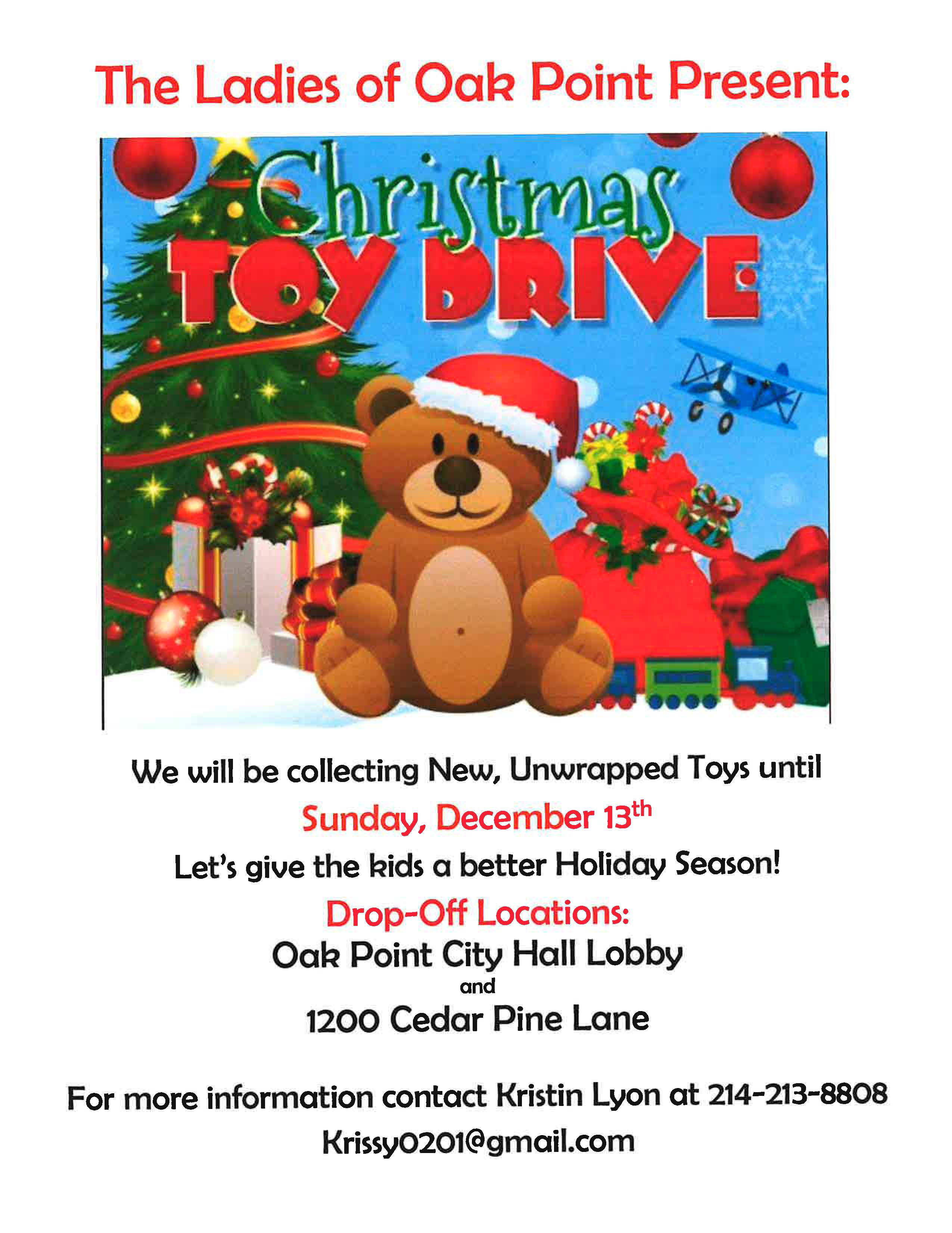 Ladies of Oak Point Toy Drive